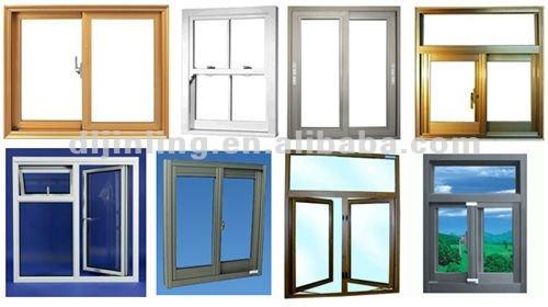 Wood grain modern aluminum window frame design in windows for Window frame designs house design