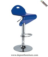 acrylic chair with blue seat