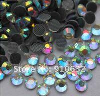10 bags 14,400 Pcs Flatback Round Hot Fix Iron-on Crystal Rhinestone Glass Gems Clear AB 20SS 5mm