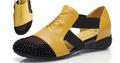 детская обувь Sandals female flat heel rhinestone cutout elevator colorant match 2013 spring and summer plus size shoes 40 - 41 Искусственная кожа