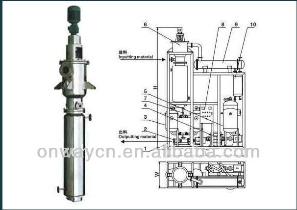 TFE high efficient energy saving steam distillation plant