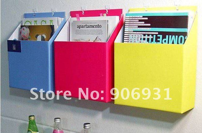 new home office decro storage box hanging paper DIY opp for magazine book clean up freeshipping wholesale