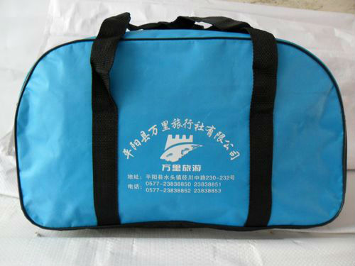 green polyester oxford travel bag