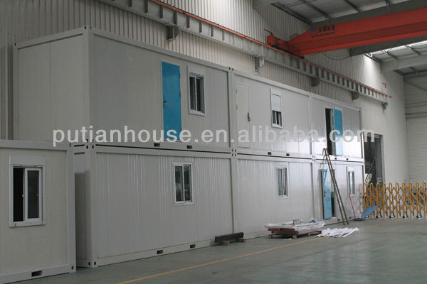 Low cost PU sandwich panel container home