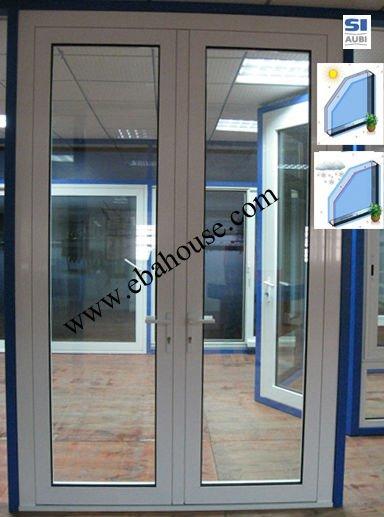 Doble panel de la puerta abatible de aluminio de - Puertas de vidrio abatibles ...