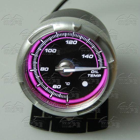 60MM Pink Blue LED Backlight Sensor + Stepping Motor Defi ADVANCE C2 Oil Temperature Temp Gauge Meter DSC_0358