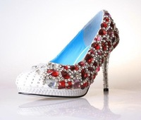 Туфли на высоком каблуке and retail luxury wedding shoes, red diamond high heel shoes, woman shoes, red jem, blue jem, white jem