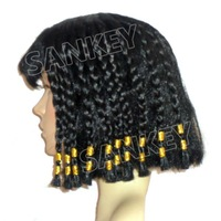 Парик New Fashion 2013 Christmas Evening Party Club Cosplay Bob Hair Haircut Egypt Cleopatra Wig