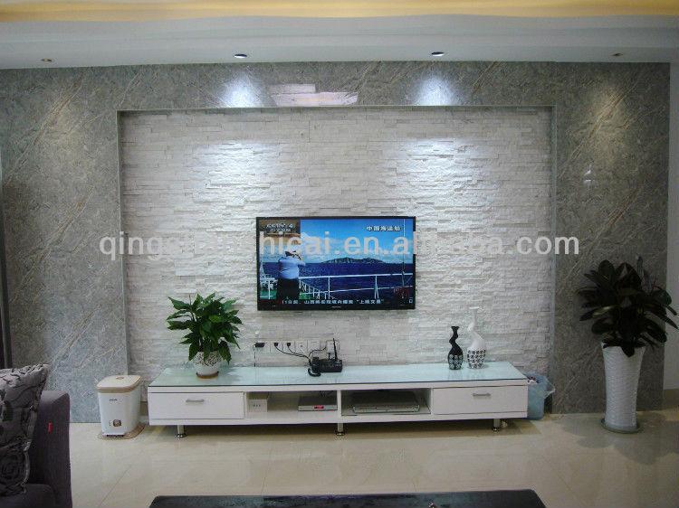 Natural split white wall cladding ledgestone veneer buy - Wall cladding for living room ...