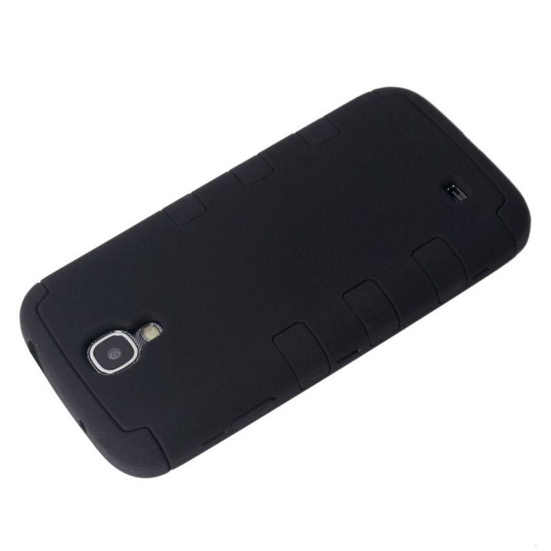 PC+Silicon bumper case for samsung galaxy s4 with Black Color