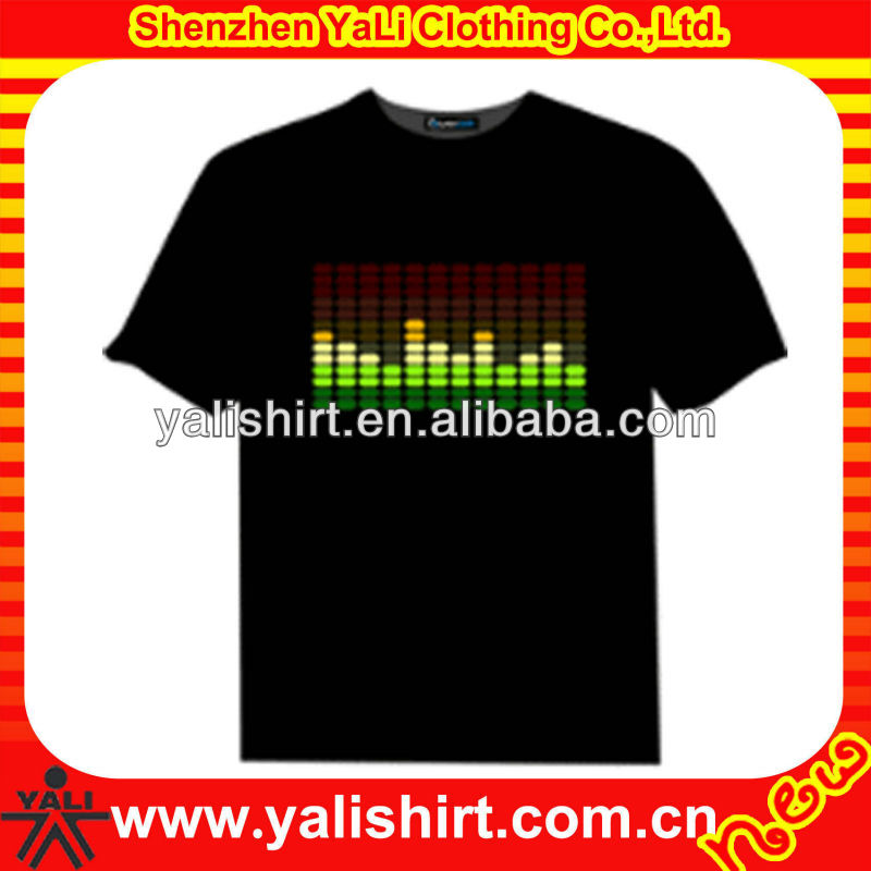 Men's 2013 new style china led t-shirt