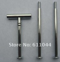 100pcs/lot  free shipping Metal T style 3 Tier Cake Stand Centre Handle Sets with Fittings