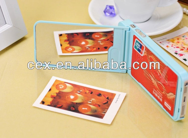 Hot Selling Wallet Case For iPhone 5 With Card Slots And Mirror