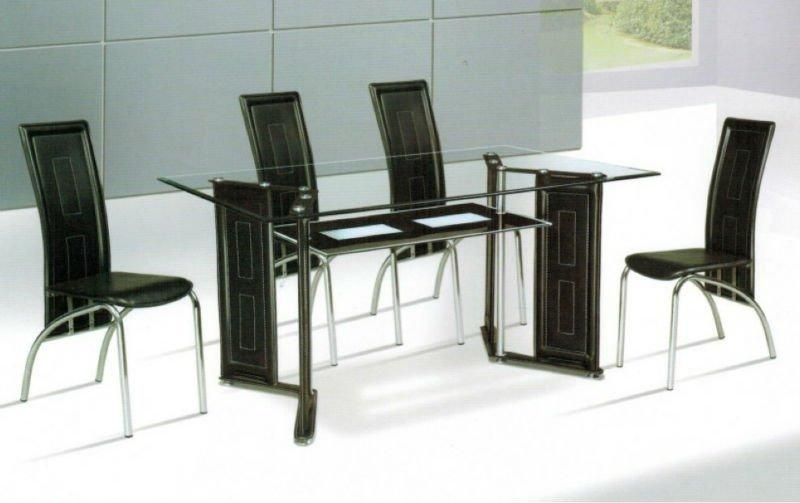 Moderno comedor de cristal juegos de comedor sets para sala ...