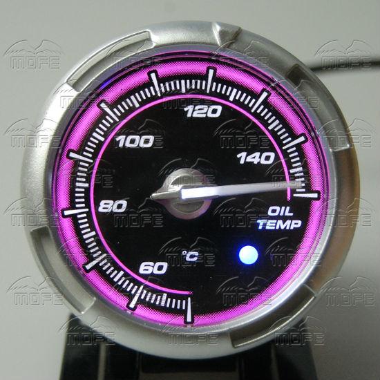 60MM Pink Blue LED Backlight Sensor + Stepping Motor Defi ADVANCE C2 Oil Temperature Temp Gauge Meter DSC_0361