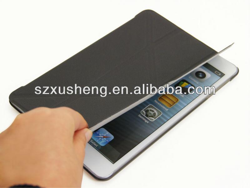 smart cases for ipad mini,transparent pc cover