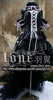 Anime chobits Chii Gorgeous black edition lolita Dress Cosplay Custume Free Shipping