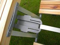 Складной стол : 4 seat.wooden top.high