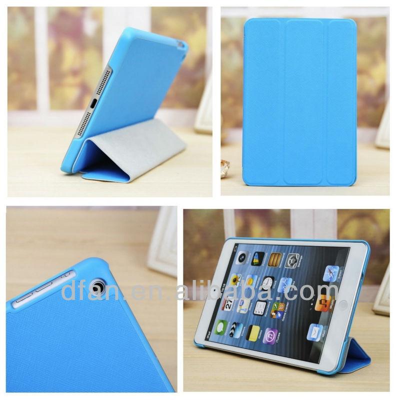 Tri-fold case for apple ipad; for ipad mini leather case
