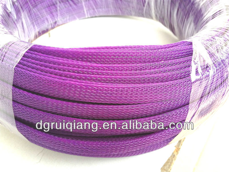 Nylon 66 Thread 0.25mm Multifilament Expandable Braided Cable Mesh Sleeving Nylon Mesh Tube Abrasion