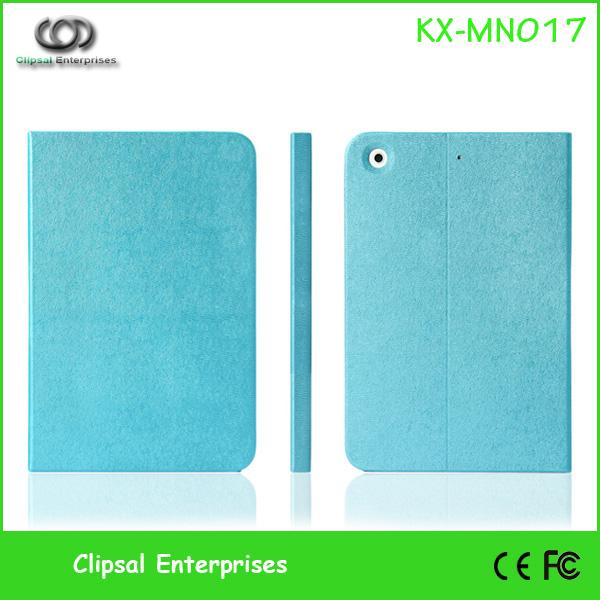 Blue Seamless PU leather series for mini ipad leather standing case for ipad mini stand case cover