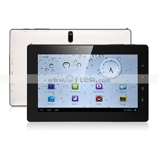7 Inch Android 4.0 Tablet PC DVB-T(MPEG2) 1GB RAM 8GB GPS Dual Camera FreeLander PD20 TV Version White