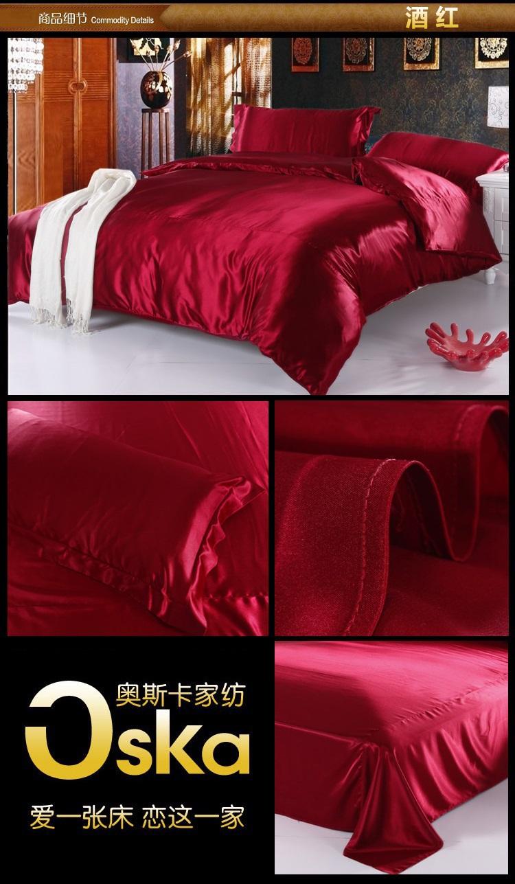 best deals luxury aqua blue satin silk bedding set queen ful