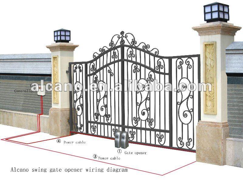 Automatic swing gate operator iron opener kit eletric