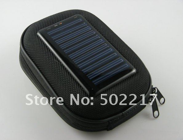 EMS Free Shipping 1000mAh Portable Solar Power Mobile Charger Case For Cell Phone Digital Camera MP3/MP4 PDA 10PCS/LOT