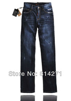 jeans men wholesale and etail of high quality fashion brand man pants, straight barrel trousers ripped blue men jeans dsq 2051