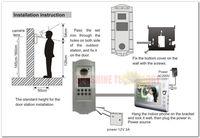Видеодомофон ID CARD Multi-unit color video intercom systems door phone/bells