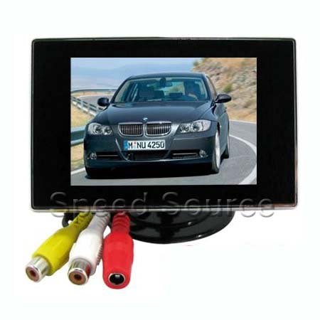"3.5"" inch Car rearview Monitor Reverse mirror 2 AV input Camera Free shipping"