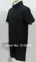 набор 2 черные мужские футболки аниме Наруто косплей костюм Учиха Саске