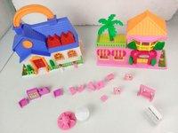 3pcs/Lot_Kids toys Plastic House Construction Kit Family Villa Toy_Free Shipping