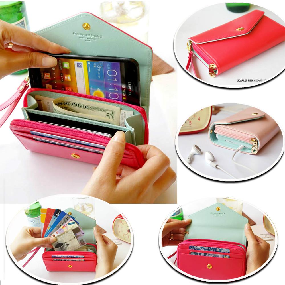Чехол-кошелек для смартфонов Crown Wallet - не просто кошелек или клатч. Это неотъемлемый атрибут любой успешной женщины, для которой важно не только отлично выглядеть, но и всегда иметь при себе все необходимое