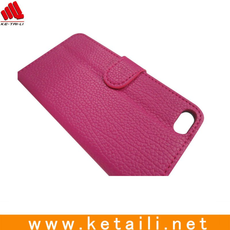 Fashion purse leather case for iphone 5 (FDA,BV test report )