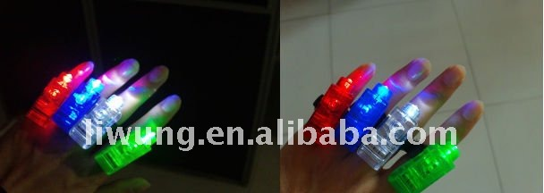 4 colors of Led laser beam finger lights