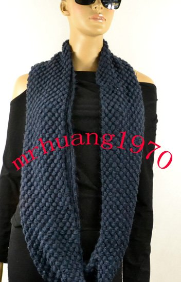 Factory direct wholesale \Retail  Fashion  Knit Warm Circle-Ring Spotty Loop Infinity Scarf/Shawl---Multi color