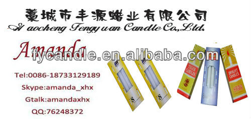 fluted white candle.veals / candle to angola /bougies