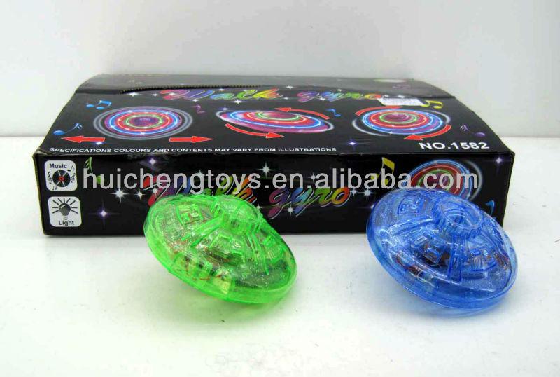 Blazing flashing UFO spinning top with music HC92295