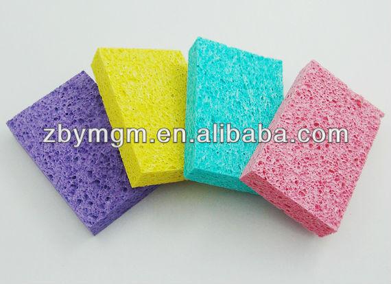 Cellulose scrubber sponges kitchen scrubber
