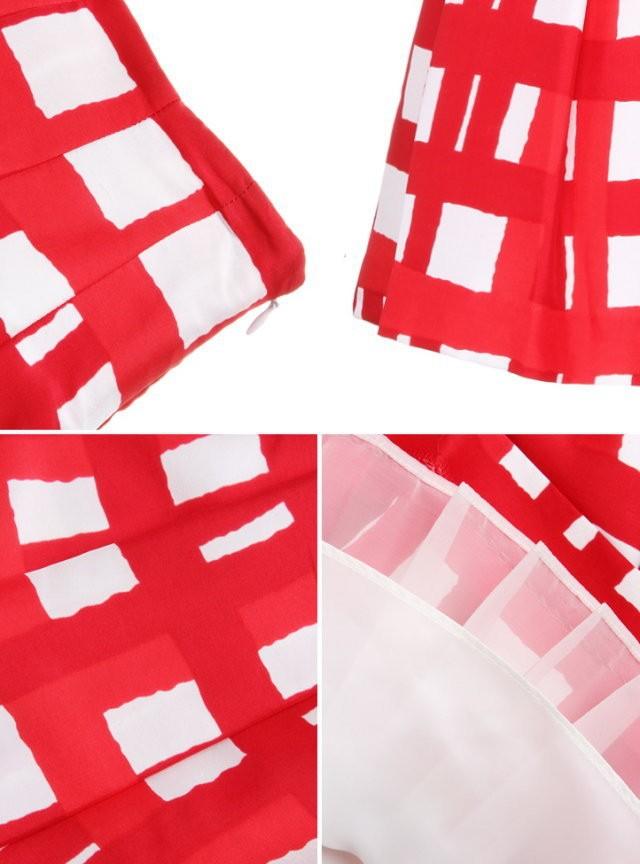 Новая весна лето моды женщин красный и белый плед юбка мини бальное платье оборками юбки шифоновые юбки #2216