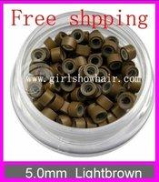 Микрокольца для наращивания волос 500 /5 #Black