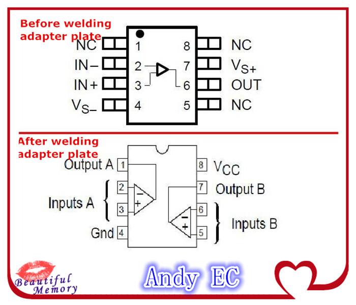 AD797 adapter plate Schematics