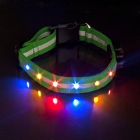 Швейная фурнитура Dog Pet Green 6 LED Light Flashing Safety Collar Tag UP-L360