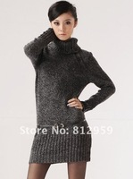 Женские толстовки и Кофты Hedging Slim-type high-necked long-sleeved long sweater