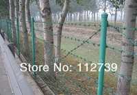 Колючая проволока 12*13 Wire Gauge, Traditional Twist Barbed Wire, PVC Coated Appearance, Barbed Length 10cm