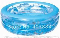 "Home Fun Luxurious Ocean Inflatable Pool, Diameter 77"" x Height 21"", free air pump and free repair kit"