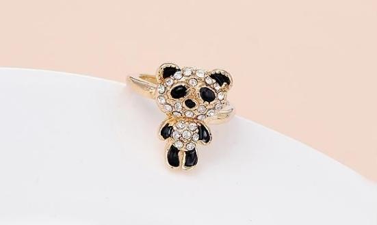 Кольцо Панда 45грн