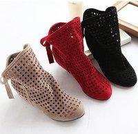 2015 году смарт! Сапоги женские моды вырезы для леди ботильоны и туфли & бежевый, черный, красный